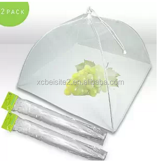 Pop Up Mesh Screen foldable food cover umbrella tent with Carrying Bag & Extra Bottom Band Protection