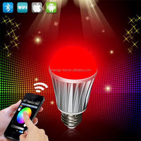 Factory Apple&Android application intelligent led bulb,with full touch screen remote,patent design with best price,AC86-265V