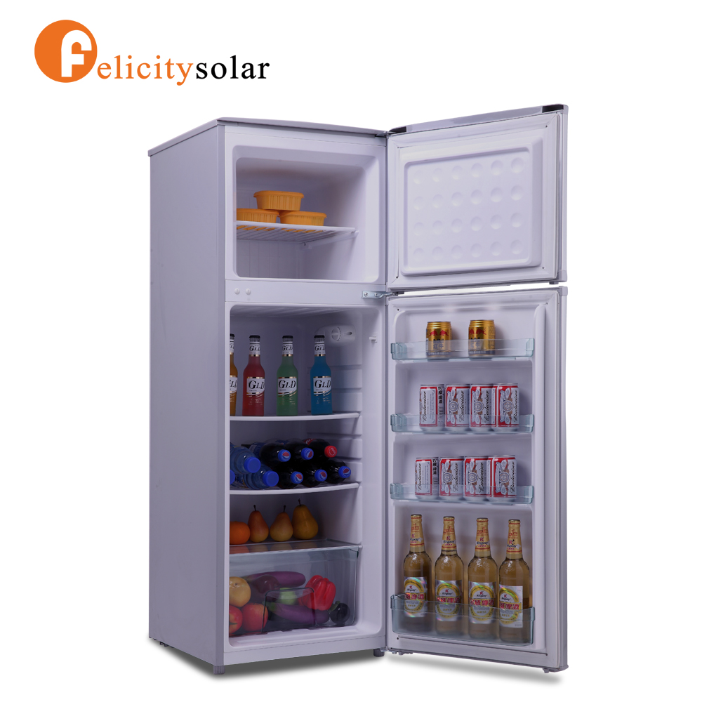 Solar powered household 12v dc refrigerator made in China