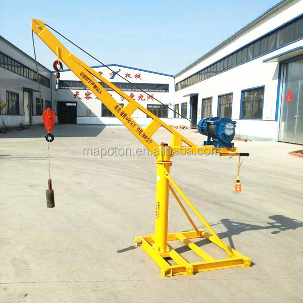 Construction Lift Arm : Rotable and safe construction use remote control crane