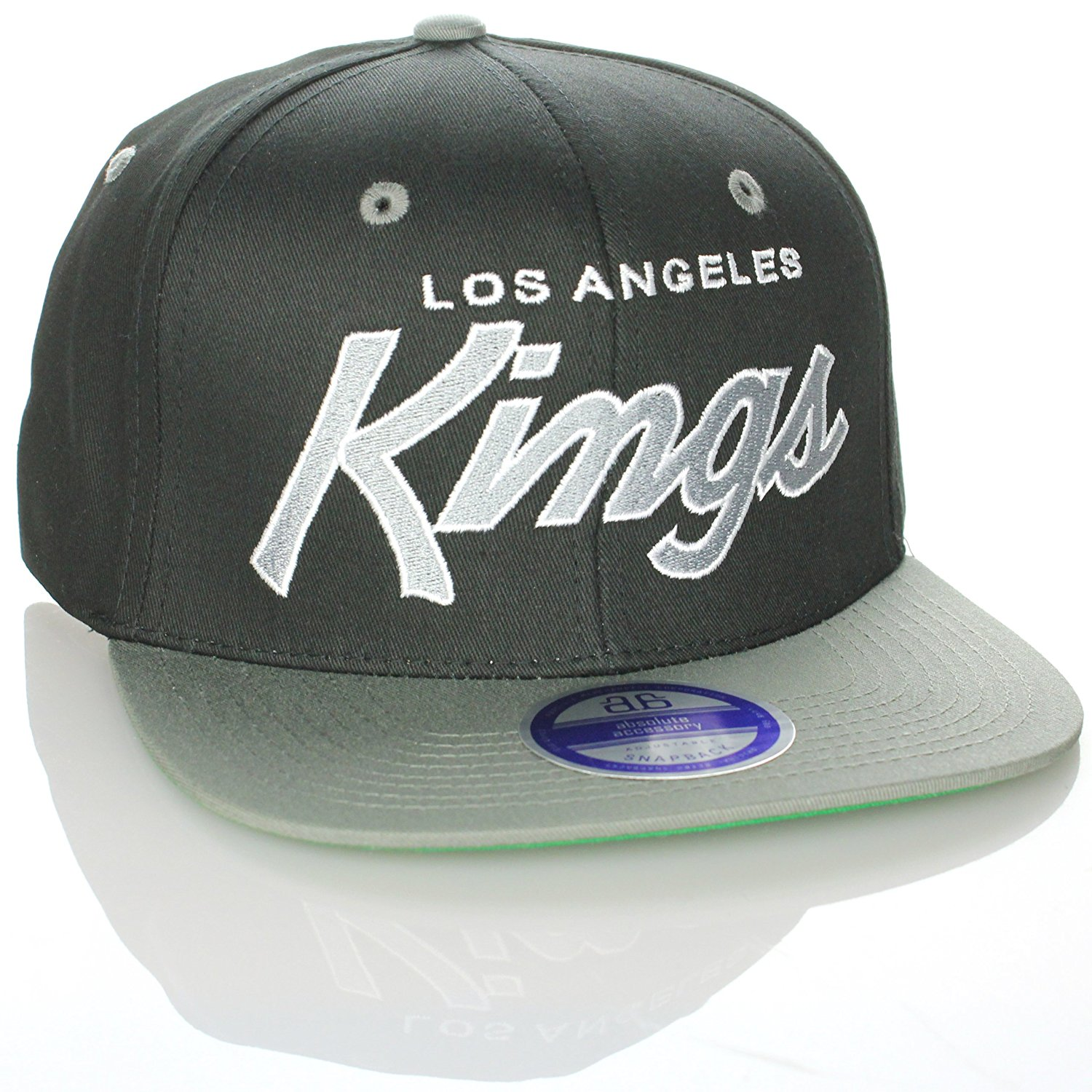 Get Quotations · Zephyr NHL Los Angeles Kings Black Gray 2 Tone Retro Snapback  Cap f1ad081780d8