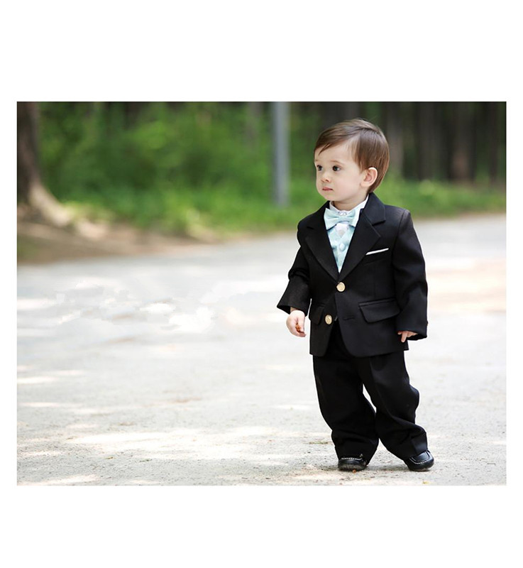 2017 Free Shipping High Quality Male Baby Dresses Boys Tuxedos Custome Made Suits
