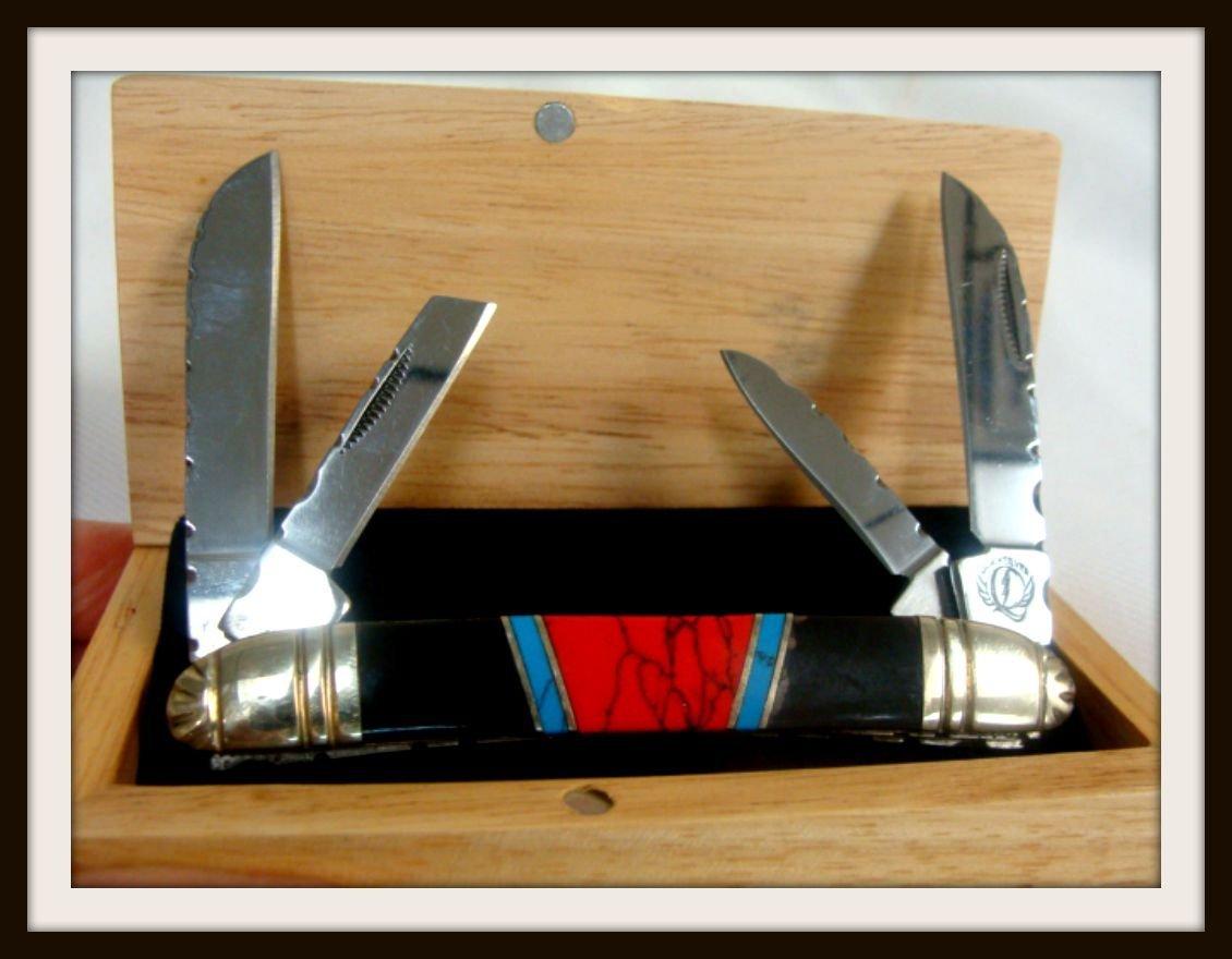 Frost Cutlery Quicksilver Custom 4-Bladed Knife