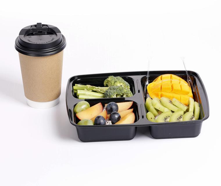 20 Meal Prep conteneurs de stockage de denrées alimentaires 3 Compartiment en Plastique réutilisables à réchauffer au micro