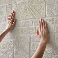 Hot selling modern eco-friendly new product xpe foam 3d wallpapers brick design