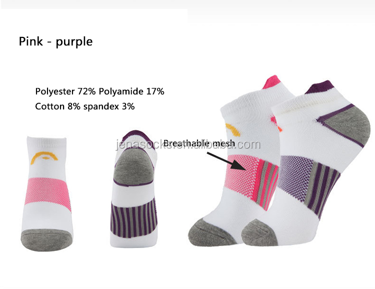 Cotton / polyester/Nylon material custom sports socks with logo printing ladies sport socks