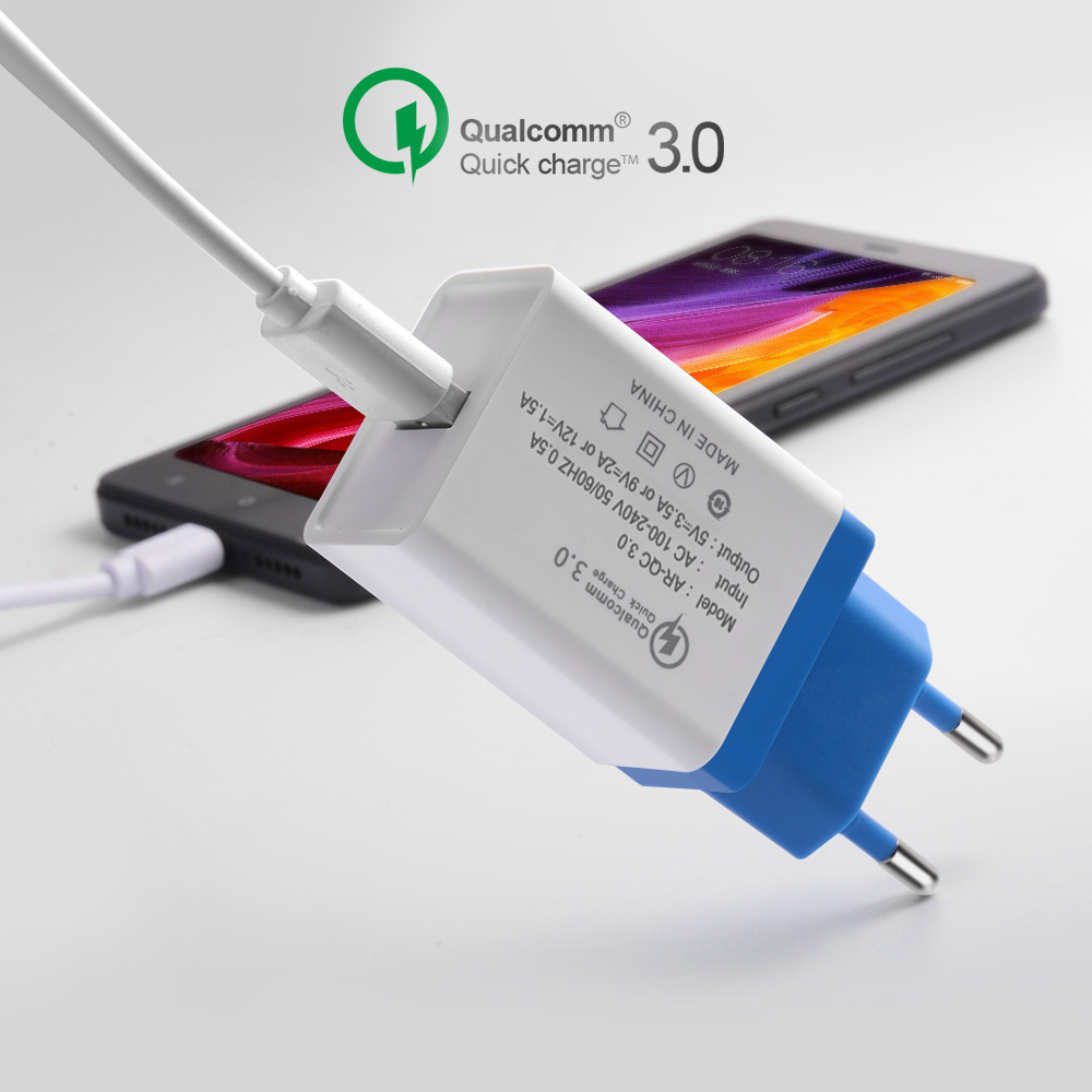 EONLINE Charge for iphone QC3.0 Mobile Phone Charging Adapter For Huawei Samsung Xiaomi ipad quick charge QC 3.0 usb car charger