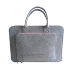 Custom 14 Inch 15 Inch Gray Felt Laptop Bag Case With Handle