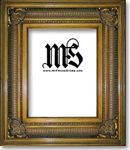 Imperial Frames 11 by 14-Inch/14 by 11-Inch Picture/Photo/Poster Frame, Solid Wood in Antique-Gold