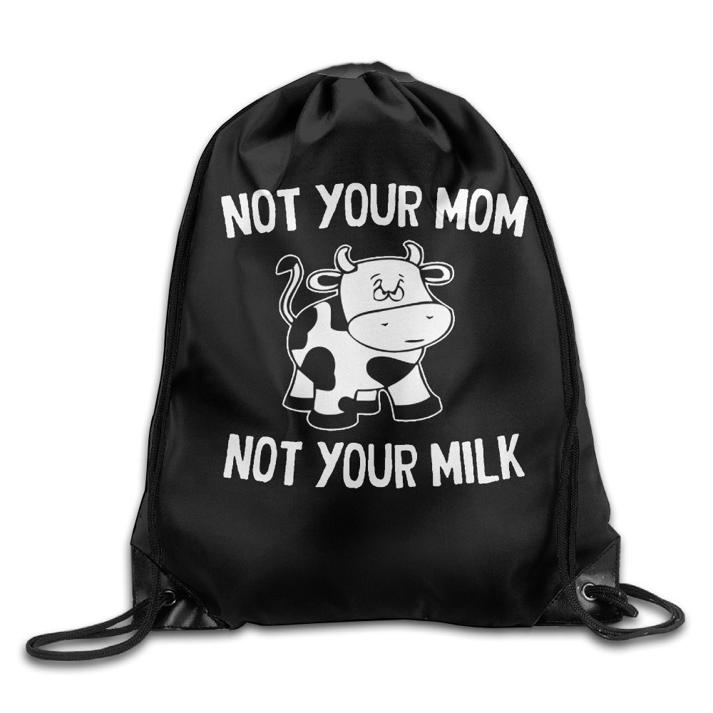 Not Your Mom Not Your Milk Kid Drawstring Backpack Spacious Drawstring Hiking Backpack Bags
