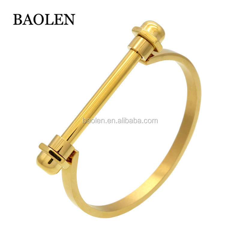 New Design Nut Nail Bracelet Armband Gold Bracelet For Women Screw Cuff Bracelet Bangle Men Jewelry
