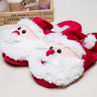 Unisex good design plush winter soft Santa Claus slipper for Christmas