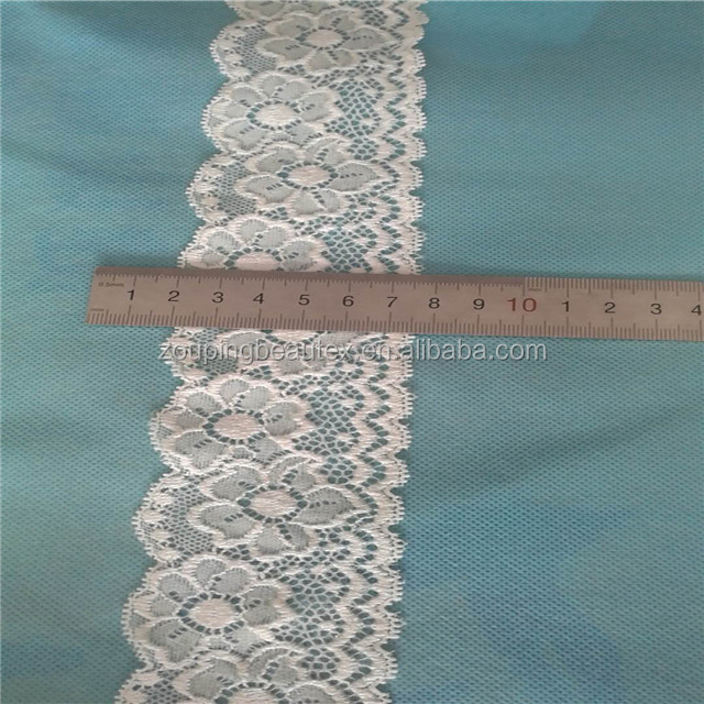 Hot sale 5.5 cm bridal lace trim for wedding dress