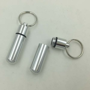 Popular Metal Stash You Cash Keychain Keyring Pill Box Multi Use