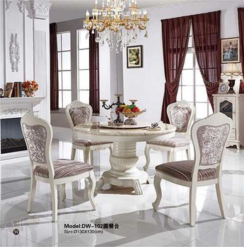 2016 top quality new style classic marble top dining room furniture