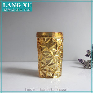 LX hot sale gold cup personalized wine tumbler glass