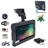 "7"" Android 4.4.2 Vehicle GPS Navigation 16G AVIN Truck Car GPS Navigator Tablet PC Car Radar Detector Car DVR with rear view"