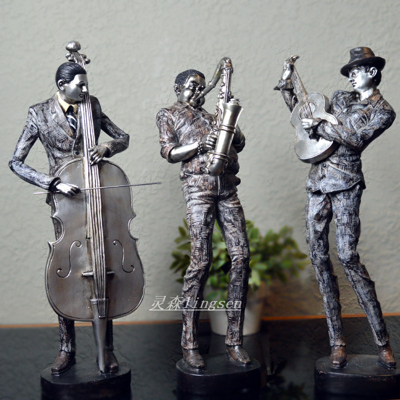 The new black music Ling Sen resin crafts ornaments home decorations modern minimalist luxury gifts