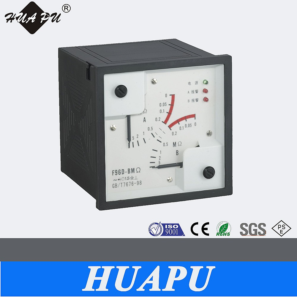 Analog display Long scale marine panel meter 96*96mm Alarm ammeter