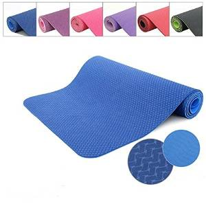 (Random Color) Sport TPE Yoga Mat Thickening Yoga Fitness Mat Two Layers 6MM Pad / Sport TPE Yoga Mat Thickening Yoga Fitness Mat Two Layers 6MM Pad . Specification: Material: TPE . S
