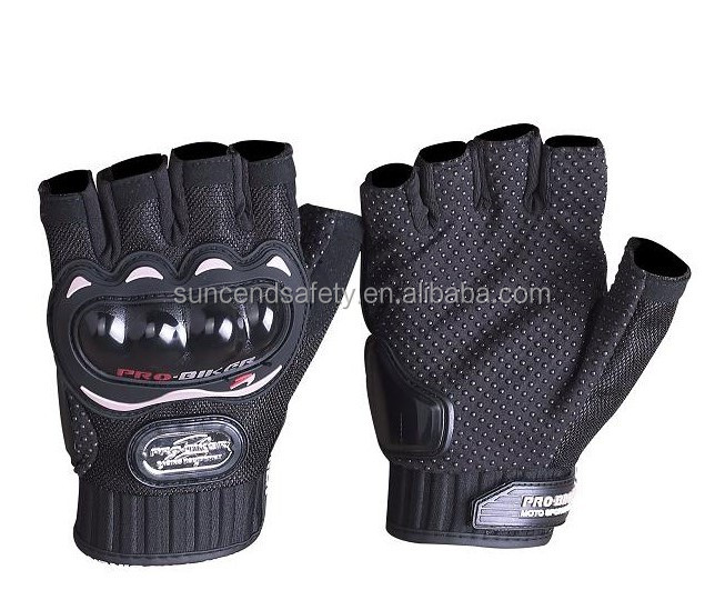Best Protective Black Pro Biker Leather Motorcycle Gloves With OEM Service