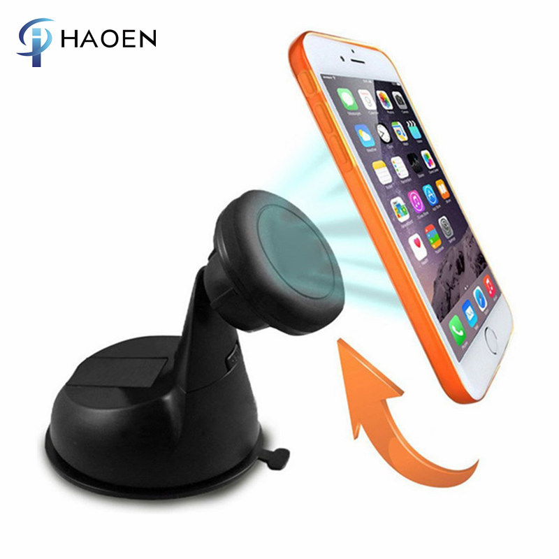 Universal windshield Dashboard car mount 360 degree rotation Magnetic phone holder for mobile phone GPS