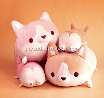 Cute Plush Toy Corgi Stuffed Animal Pillows Cute Cushions Baby Doll