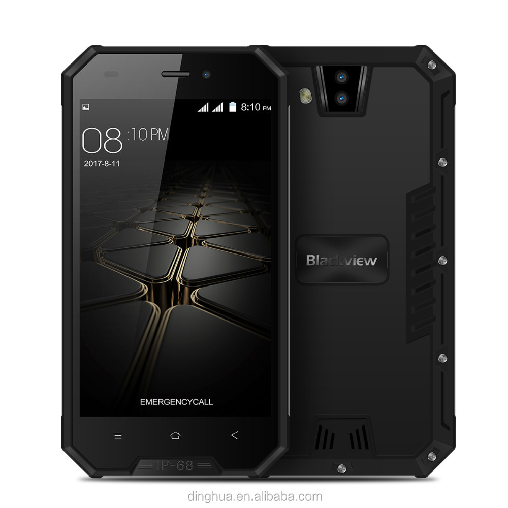 "Blackview BV4000 פרו טלפון נייד Waterproof IP68 8MP מצלמות כפולה 4.7 ""HD IPS 2 GB + 16 GB Quad Core 3680 mAh Dustproof עמק"