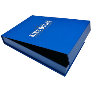 OEM Custom Book Type Blue Printing Hard Cardboard Paper Packing Gift Box and Paper Gift Box with Magnet
