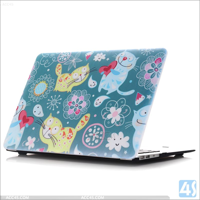 Factory price OEM patterned printing protective shell laptop case for new macbook air 12 covers