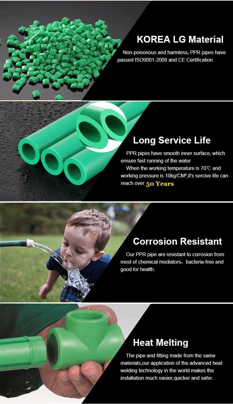 Sanitär materialien Kunststoff Wasser Polyethylen Aluminium PPR Rohr PN10 PN16 PN20 PN25