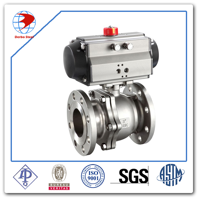 3 PCS Pneumatic Actuator Ball Valve for Water Treatment