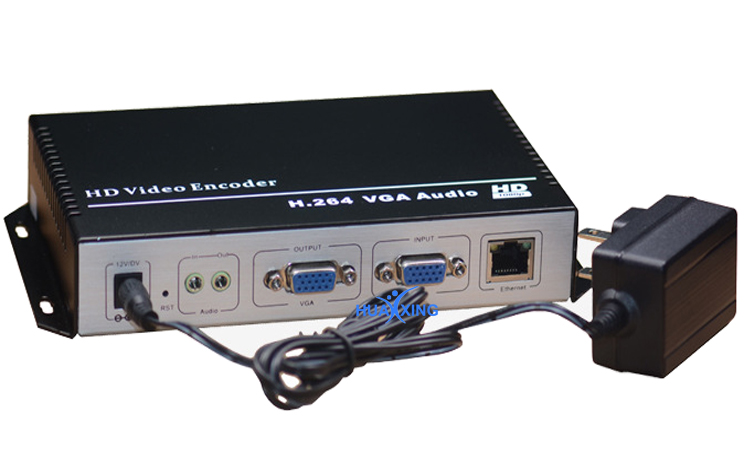 H.264 HD VGA to IP Encoder with local loop output for iptv ,live streaming broadcast, streaming sever