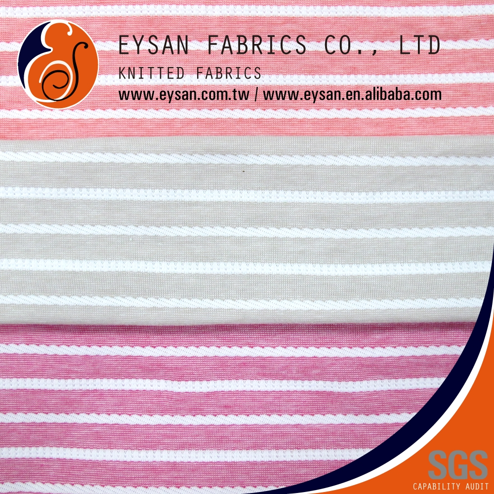 EYSAN Made in Taiwan Yarn Dyed Polyester Cotton Jacquard Fabric