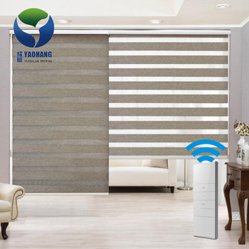 Modern home decor remote control motorized zebra blinds