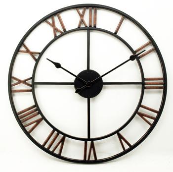 Oversize Skeleton Roman Numerals Retro European Style Iron Vintage Wall Clock