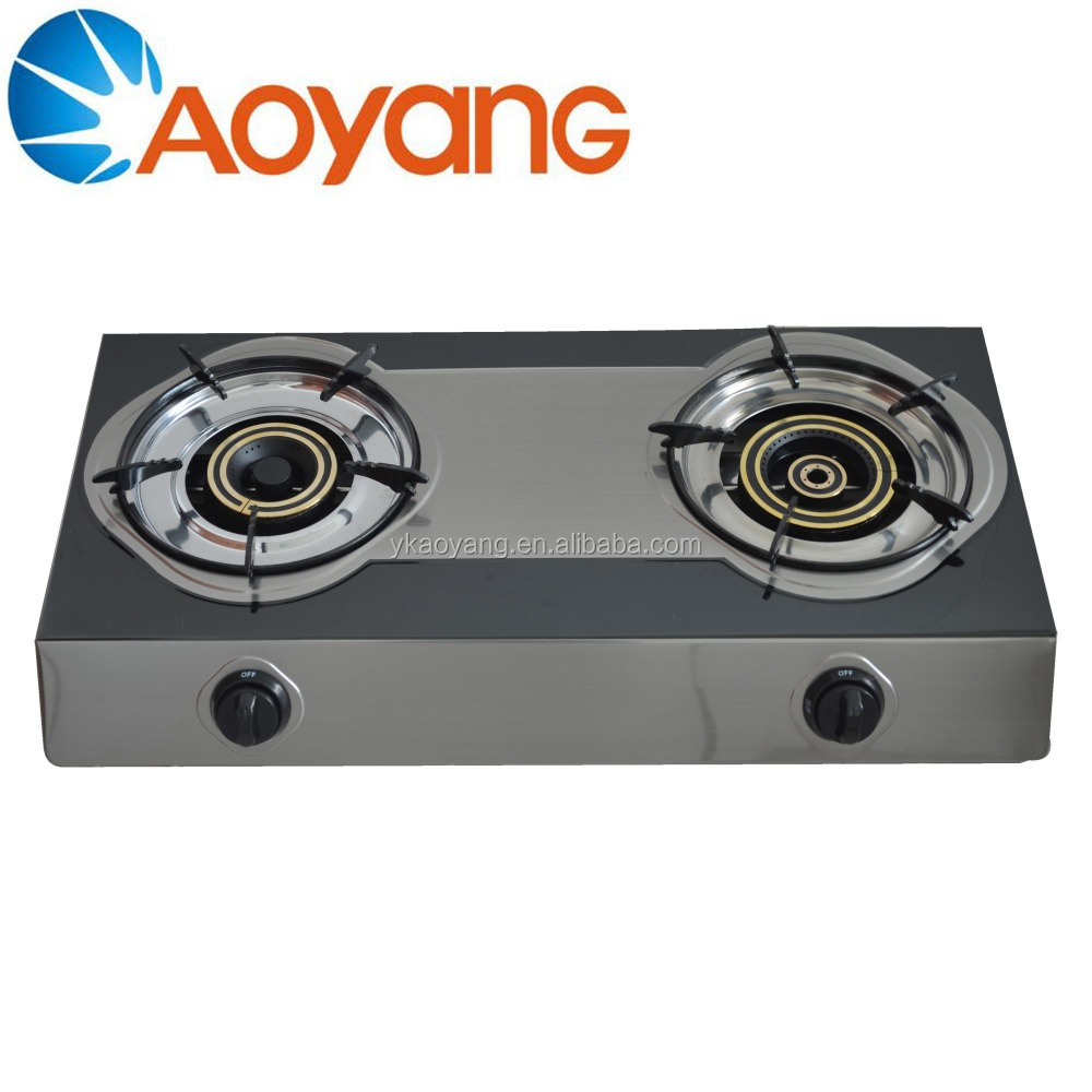 Restaurant Kitchen Super Flame Cooking 2 Burner Table Gas Stove Wholesale