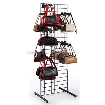 Bdd Ba518 Floor Standing Metal Handbag Stand Shoulder Bag Display