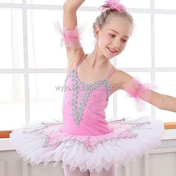 Professional Romantic Child Kids White Swan Ballet Costume Classic Tutu For Girls