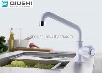 2017 Cold Water Plastic Long Spout Brass Kitchen Mixer Faucet Tap
