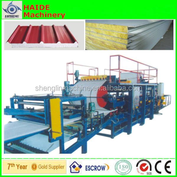 eps sandwich panel wall and roof roll forming machine