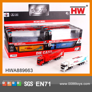New Design1:87 metal toy truck and trailer 12pcs/display box