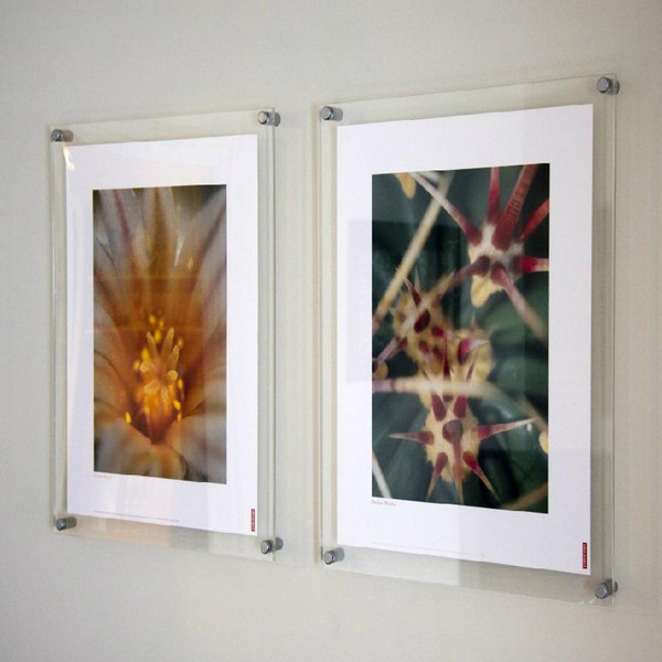 acrylic 8x10 magnetic photo frame double sided glass photo frame - Double Sided Glass Frame