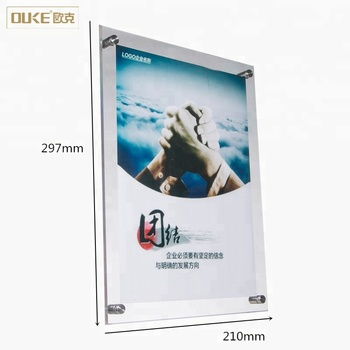 Retail online shopping wholesale wall mount acrylic sign holder A4 A5