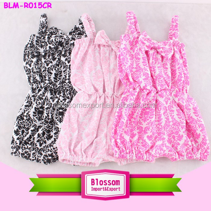 USA Apparel baby clothes custom print romper kids baby bubble boutique children multicolor kids smocked bubble romper