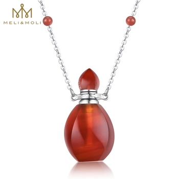 Fire shaped gemstone jewelry red agate carnelian essential oil fire shaped gemstone jewelry red agate carnelian essential oilperfume pendant with 925 aloadofball Image collections