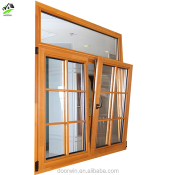 french casement wood aluminum window with grid