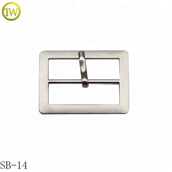 Classical style pin shoe buckle matte silver metal blet buckle parts fort bags