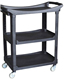 3-Tier hotel restaurant kitchen plastic food catering trolley food service cart with wheels