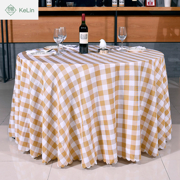 5 Star Hotel Used Table Cover Elegant Round Square Table Cloth